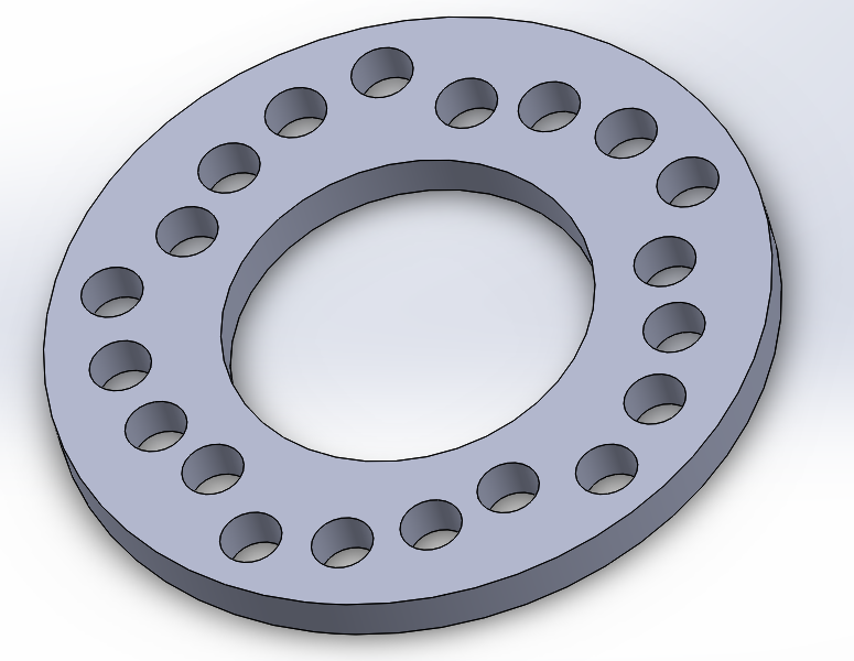 "A 4.25"" - 5"" Wheel Spacer Designed in Solidworks"