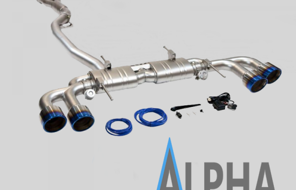 NISSAN GTR 3.5″ TURBO BACK VALVED EXHAUST WITH 5 INCH TITANIUM TAILS